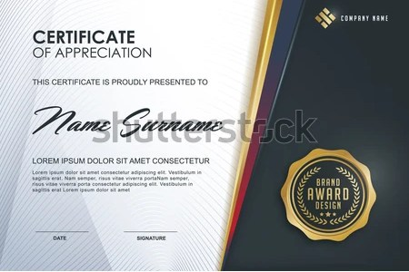 luxurious certificate design vector template   Download Free Vector     certificate template with luxury and modern pattern diploma Vector  illustration