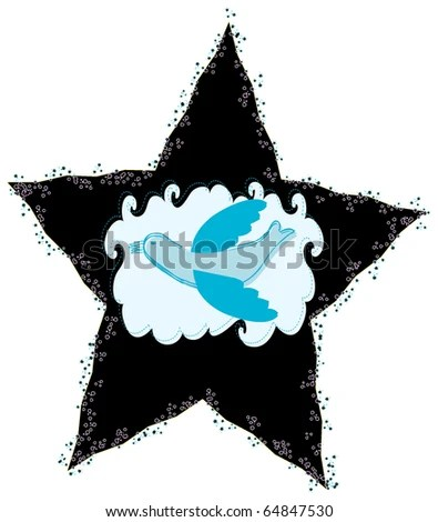 star with blue dove