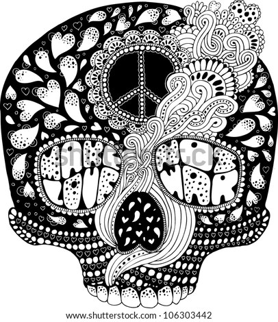 cool hippie coloring pages az coloring pages hippie coloring - Psychedelic Hippie Coloring Pages