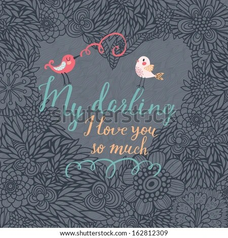 Download My Darling, I Love You So Much. Beautiful Romantic Card In ...