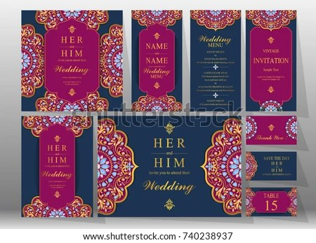 Indian Wedding Card Background 6