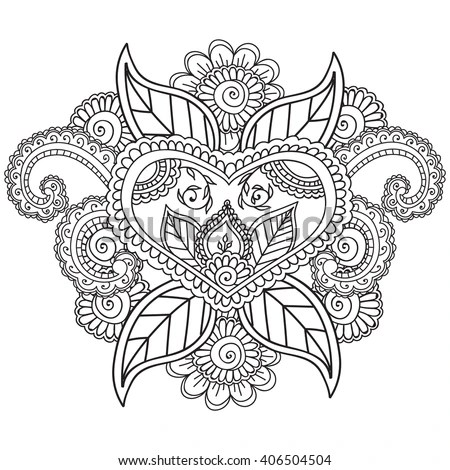 coloring pages for adults henna mehndi doodles zentahgle abstract