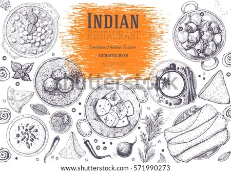 Vector Images Illustrations And Cliparts Indian Cuisine