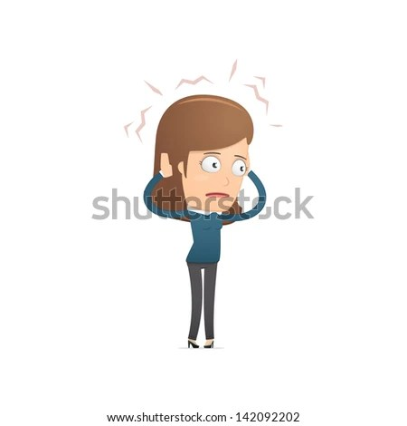 Girl manager, suitable for use in dialogs with other characters. - stock vector