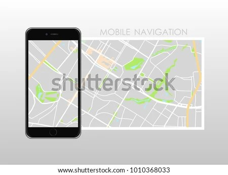 Navigation Map   Download Free Vector Art  Stock Graphics   Images Dashboard theme creative infographic of city map navigation on phone   Vector illustration