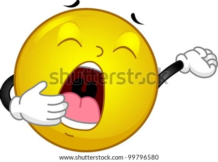 Illustration Featuring a Yawning Smiley - stock vector