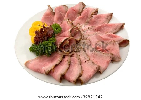roast beef - stock photo
