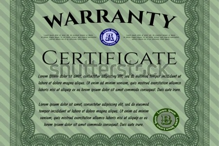 Beautiful green certificate template design vector   Download Free     Green Formal Warranty Certificate template  Lovely design  With quality  background  Customizable  Easy