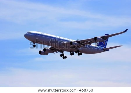 stock photo : Greek Airlines Airbus A340