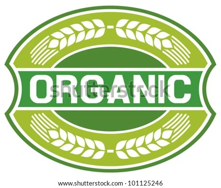 stock vector : organic label (organic seal, organic symbol, organic badge, organic sign)
