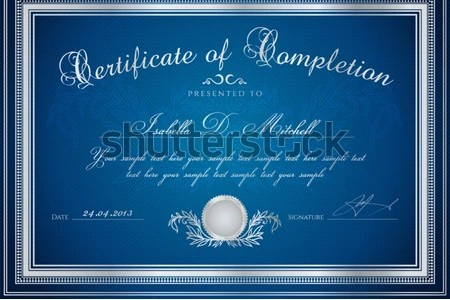 dark luxury certificate template design   Download Free Vector Art     Dark blue Certificate   Diploma of completion  design template   sample  background  with floral