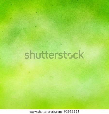grunge green-lime water color background. - stock photo