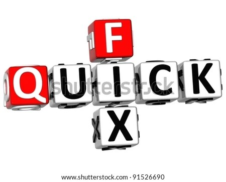 stock photo : 3D Quick Fix Crossword on white background