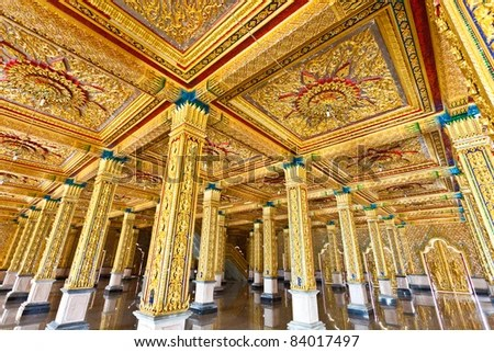 Detail of Church at  Tha Sung Temple,Uthaithani, Thailand - stock photo