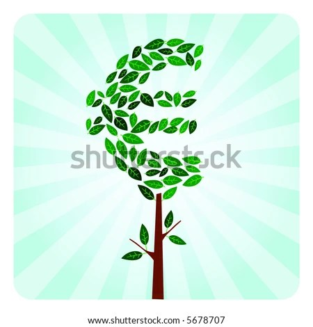 stock photo : Ethical Money Tree Investment