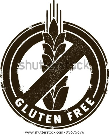 stock vector : Gluten Free Stamp