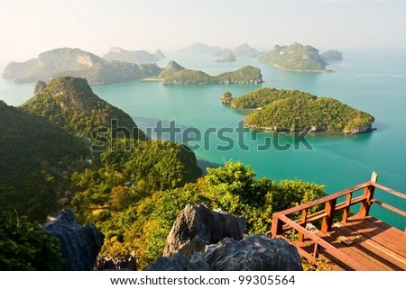 Mue Koh Angthong View Point, Surat Thani , South of Thailand - stock photo