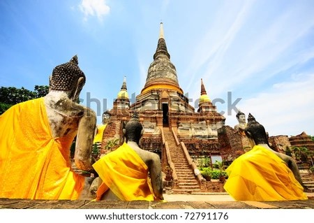 Temple of Ayuthaya, Thailand - stock photo