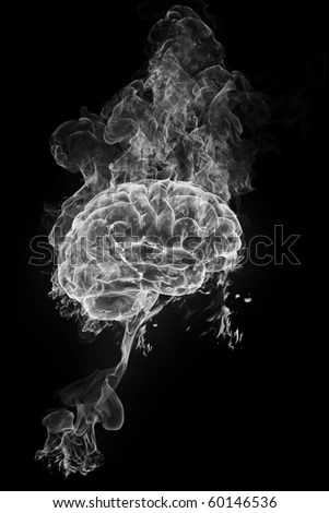 smoky brain - stock photo