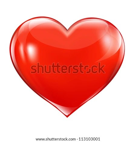 Big Red Heart, Isolated On White Background, Vector Illustration - stock vector
