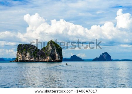 Stony Island, Trang Province, Thailand - stock photo