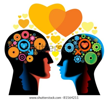 man woman love.the relationships between men and women - stock vector