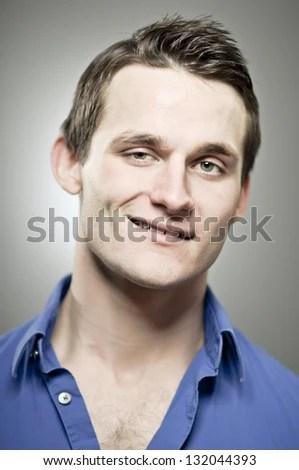 Smug Man - stock photo