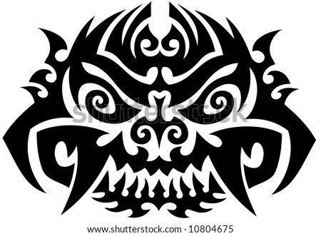 stock vector : Totem Tattoo Background