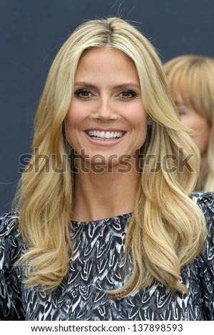 Heidi Klum at the launch of Heidi Klum`s Hair Beauty Therapy's Right End Revolution, The Grove, Los Angeles, CA 05-01-13 - stock photo
