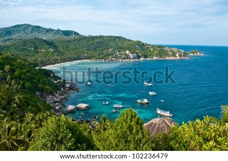 Island in southern Thailand, Koh Tao, Chumphon. - stock photo