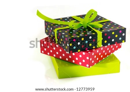stock photo : stack with presents