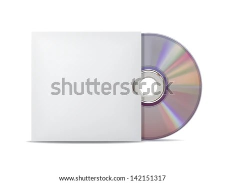 Compact disk with cover. - stock photo