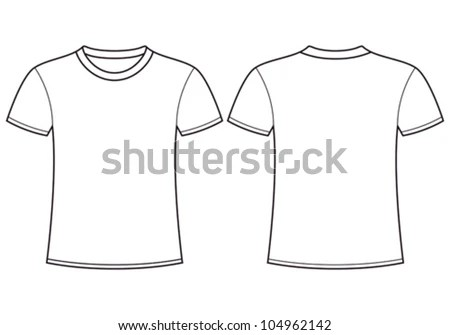 Blank Tee Template. 35 best free psd vector. blank white tshirt ...