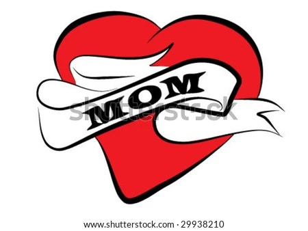 stock vector : mom tattoo vector clip-art background