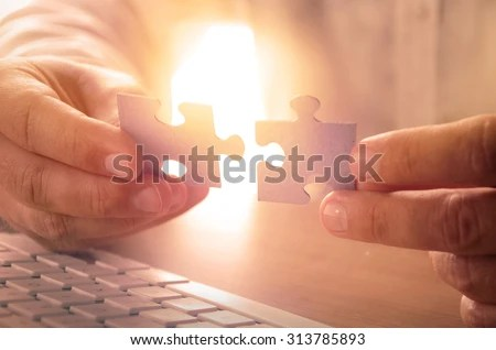 solutions success and strategy concept businessman hand