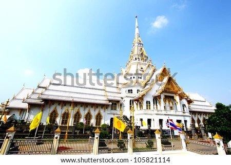 Sothorn Temple at Chachoengsao province, Thailand - stock photo