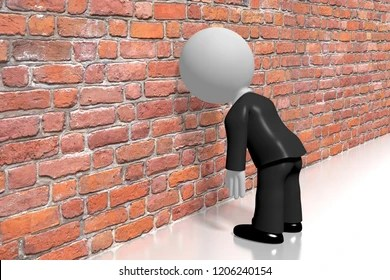 Banging Head Against Wall Images, Stock Photos & Vectors ...