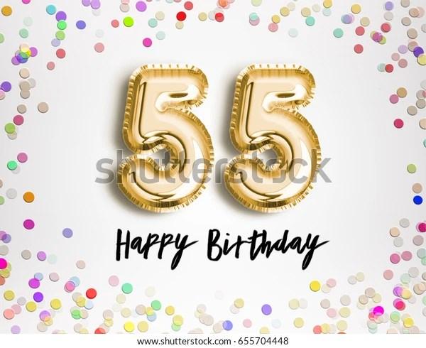 https www shutterstock com image illustration 55th birthday celebration gold balloons colorful 655704448