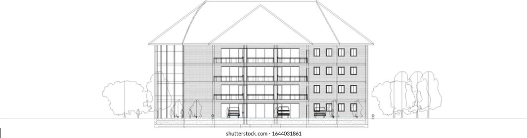 Elevation Drawing Images Stock Photos Vectors Shutterstock