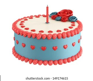 Red White Blue Birthday Cake Images Stock Photos Vectors Shutterstock