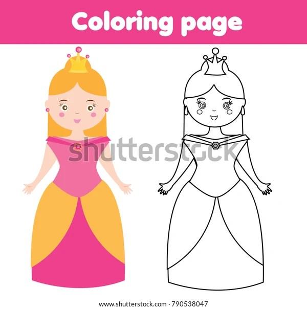 princess color page # 35