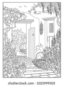 garden coloring page # 55
