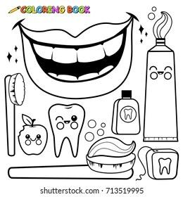 Dental Coloring Pages Images Stock Photos Vectors Shutterstock