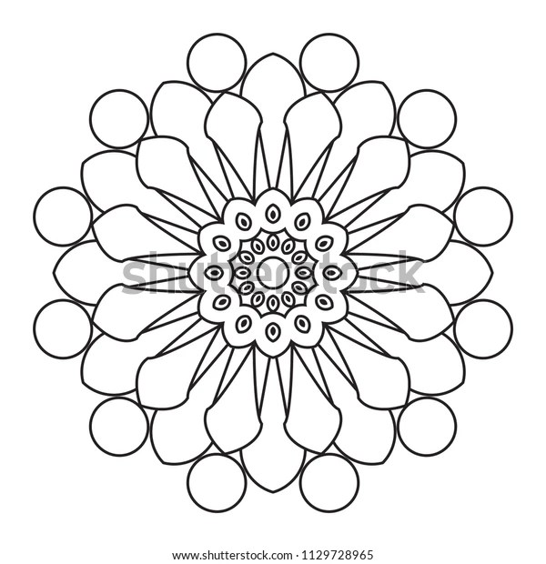easy mandala coloring pages # 14