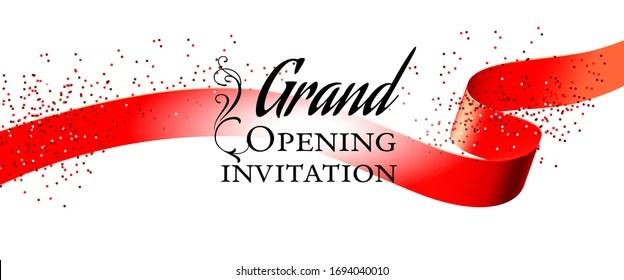 https www shutterstock com image illustration grand opening white invitation card design 1694040010