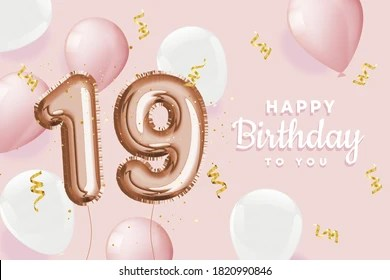 Happy 19th Birthday Images Stock Photos Vectors Shutterstock