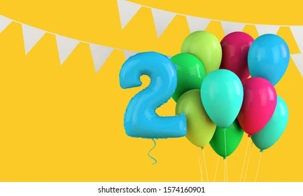 https www shutterstock com image illustration happy 2nd birthday colorful party balloons 1574160901