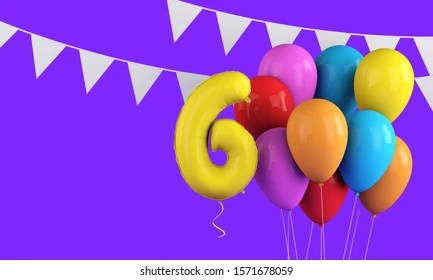 Happy 6th Birthday Images Stock Photos Vectors Shutterstock