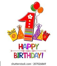 1st Birthday Banner Images Stock Photos Vectors Shutterstock