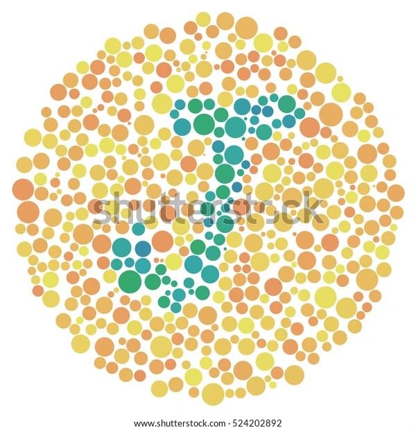 Ishihara Test Daltonism Color Blindness Disease 庫存插圖 524202892
